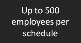 Up to 500 employees per schedule