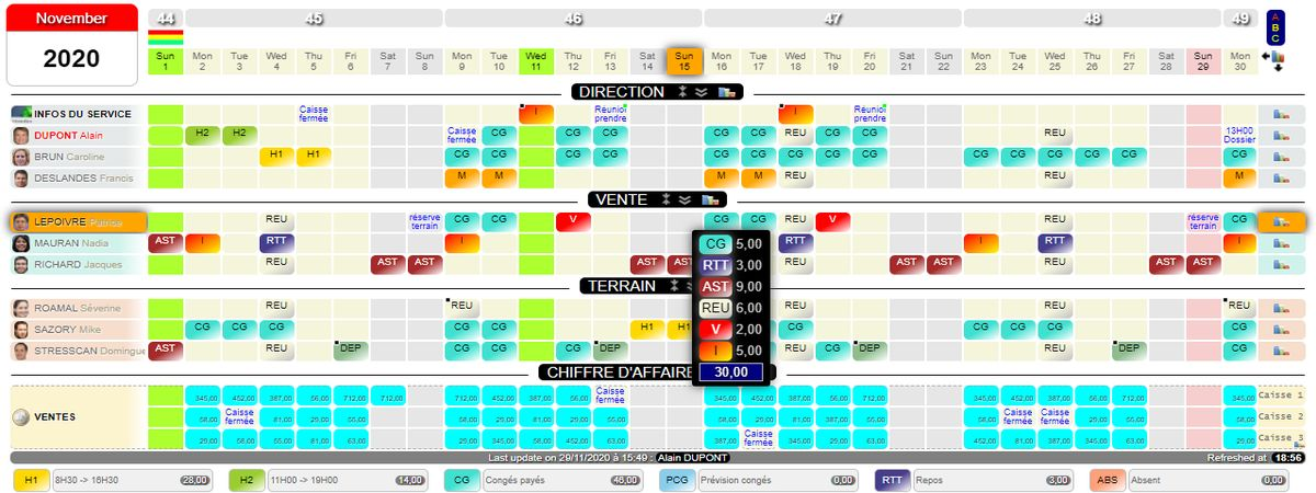 Planning collaboratif en ligne